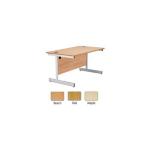 Jemini 1200mm Cantilever Rectangular Desk Maple