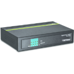 Trendnet TPE-TG50g Gigabit Ethernet (10/100/1000) Black Power over Ethernet (PoE)