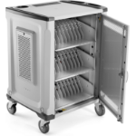 HP 32U Essential Charging Cart Portable device management cabinet Grey