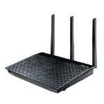 ASUS AC1750 Dual-band (2.4 GHz / 5 GHz) Gigabit Ethernet Black wireless router