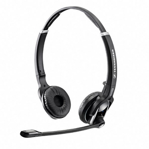 Sennheiser DW 30 HS Binaural Head-Band Black Dual-Ear Headset
