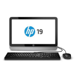 "HP 19-2404 1.35GHz E1-6010 19.5"" 1600 x 900Pixeles Negro, Plata All-in-One PC"