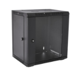 V7 RMWC12UG450-1E rack cabinet 12U Wall mounted rack Black