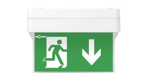 SiCurio ExitEasy IP40 emergency lamp Green,White