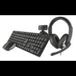 Trust Qoby keyboard RF Wireless QWERTY UK English Black