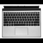 HP L67436-A41 mobile device keyboard Belgian Silver Pogo Pin