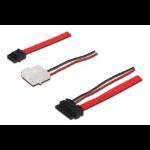ASSMANN Electronic AK-400114-005-R 0.5m SATA 13-pin SATA 22-pin + 4-pin Molex Zwart, Rood, Wit SATA-kabel