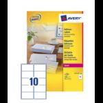 Avery L7173-100 addressing label White Self-adhesive label