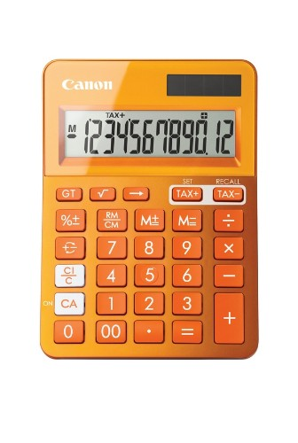 Canon LS-123k calculator Desktop Basic Orange