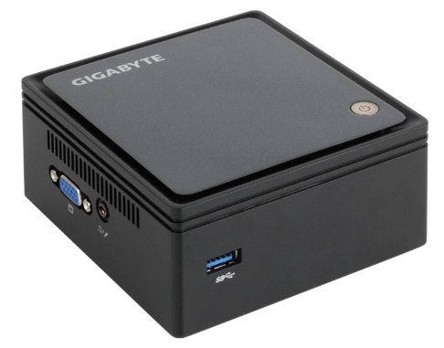 Gigabyte GB-BXBT-2807-1/4 PC/workstation barebone BGA 1170 1.58 GHz N2807 UCFF Black