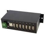 StarTech.com Mountable Rugged Industrial 7 Port USB Hub