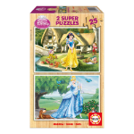 Disney Princess 2 Super Cinderella & Snow White 25pcs Wooden Jigsaw Puzzles (15591)