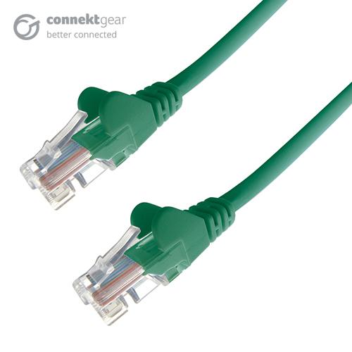 CONNEkT Gear 0.3m RJ45 CAT6 UTP Stranded Flush Moulded LS0H Network Cable - 24AWG - Green