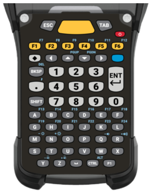 Zebra KYPD-MC9358ANR-10 teclado para móvil Alfanumérico Inglés Negro, Gris