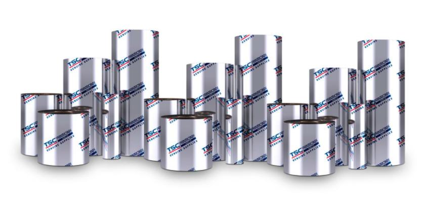 TSC 220mm X 625M 8300-PWX PREMIUM WAX 6ROLLS/CTN thermal ribbon Black