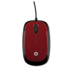 HP X1200 Flyer Red Wired Mouse