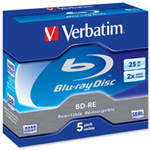Verbatim BD-RE SL 25GB 2x 5 Pack Jewel Case BD-RE 25GB 5pc(s)ZZZZZ], 43615