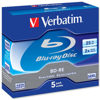 Verbatim BD-RE SL 25GB 2x 5 Pack Jewel Case BD-RE 25GB 5pc(s)