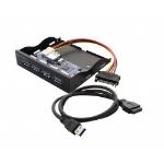 """SYBA SY-HUB20211 3.5"""" I/O ports panel Black drive bay panel"""