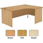 Jemini Beech Right Hand Panel End 1800mm Radial Desk KF838072