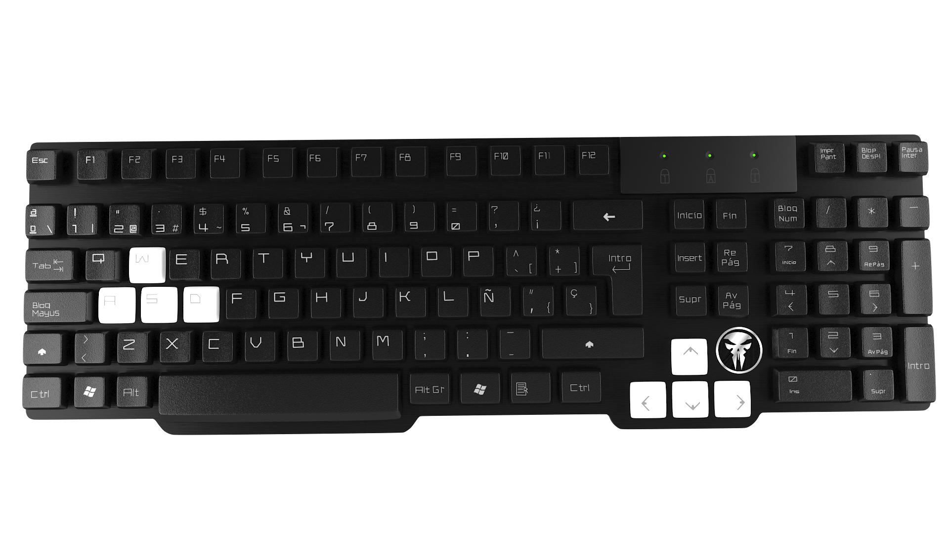 Mars Gaming MKHA0 keyboard USB Black,White