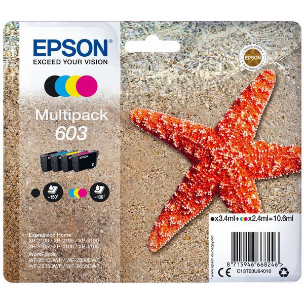 Epson C13T03U64010 (603) Ink cartridge multi pack, 3,4ml + 3x2,4ml, Pack qty 4