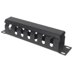 """Intellinet 10"""" Cable Management Panel, 1U, Covered, Black"""