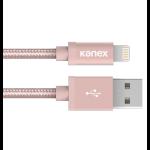 Kanex Lightning - USB 1.2m 1.2m USB A Lightning Gold, Pink mobile phone cable