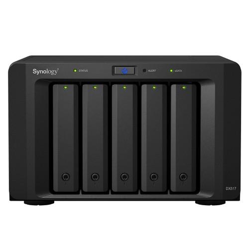 Synology DiskStation DX51715TBSEAN DX517 15TB IronWolf 5 Bays NAS Server Black