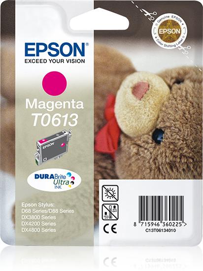 Epson Teddybear inktpatroon Magenta T0613 DURABrite Ultra Ink