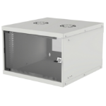 "Intellinet 19"" Basic Wallmount Cabinet, 6U, 560mm Deep, IP20-Rated Housing, Max 50kg, Flatpack, Grey"