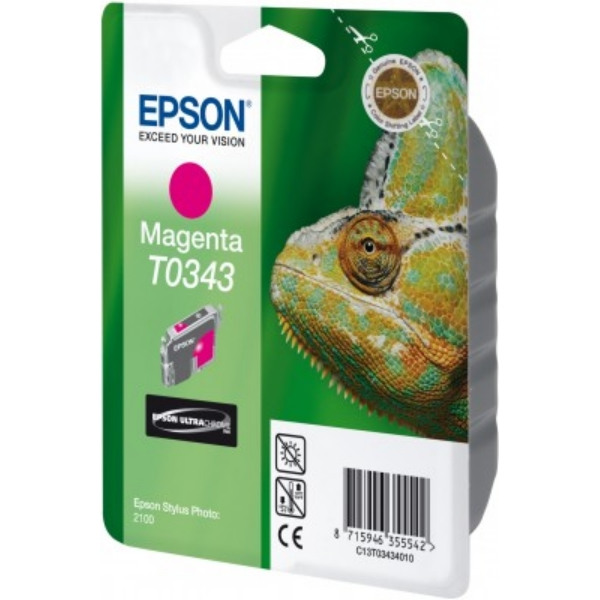 Epson C13T03434010 (T0343) Ink cartridge magenta, 440 pages, 17ml