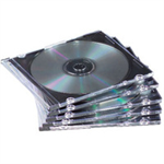 Fellowes 98316 Jewel case 1 discs Black, Translucent
