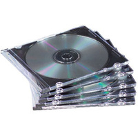 Slim Jewel Cases 25pk Black Cd/DVD/booklet