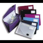 Snopake 6-Part Expanding Organiser - Clear personal organizer