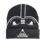 Star Wars A New Hope Classic Darth Vader Mask Roll-up Beanie, Unisex, Black (KC241457STW)