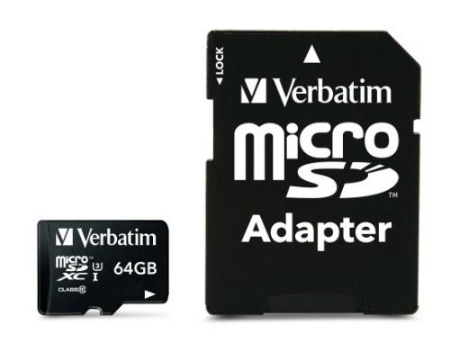 Verbatim Pro 64GB MicroSDXC UHS Class 10 memory card