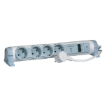 C2G 80794 4AC outlet(s) 1.5m Grey,White surge protector