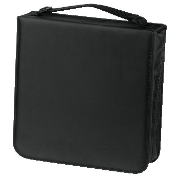 Hama CD Wallet Nylon 208, black 208 discs