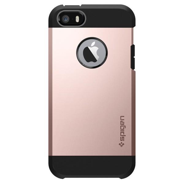 """Spigen Tough Armor mobiele telefoon behuizingen 10,2 cm (4"""") Hoes Zwart, Roze goud"""