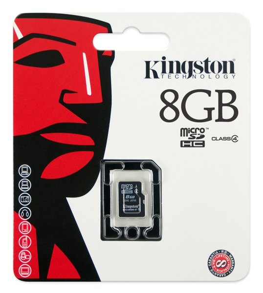 Kingston Technology SDC4/8GBSP memory card 8 GB MicroSDHC