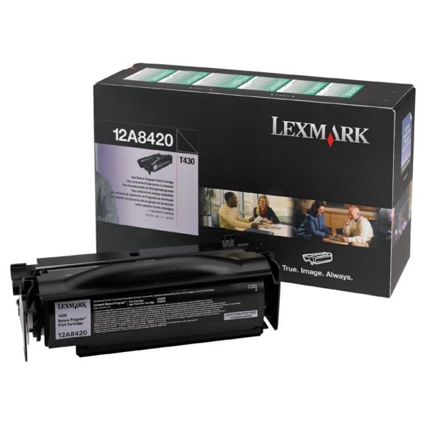 Lexmark 12A8420 Toner black, 6K pages @ 5% coverage