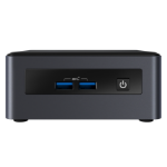 Intel NUC BKNUC8I3PNH PC/workstation barebone 0.69L sized PC Black BGA 1528 i3-8145U 2.1 GHz