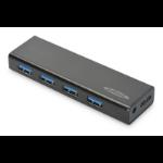 Ednet 85155 interface hub USB 3.2 Gen 1 (3.1 Gen 1) Micro-B 5000 Mbit/s Black
