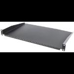 "Intellinet 19"" Cantilever Shelf, 1U, Shelf Depth 350mm, Non-Vented, Black"