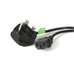 StarTech.com 3 Prong UK PC Power Cord Zwart 1,8 m