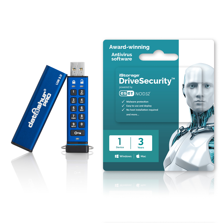iStorage datAshur Pro USB 64GB + 3yr Lic