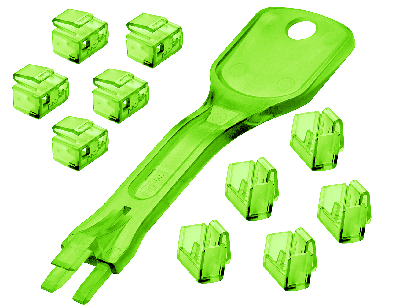 RJ-45 PORT BLOCKER KEY-PACK OF 10 BLOCKERS GREEN