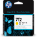 HP 712 Original Amarillo 1 pieza(s)