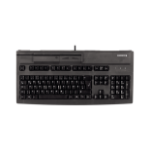 CHERRY MultiBoard Multi-Board MX V2 G80-8000 Corded Keyboard with Magnetic Card Reader, Black , USB (QWERTY - UK)